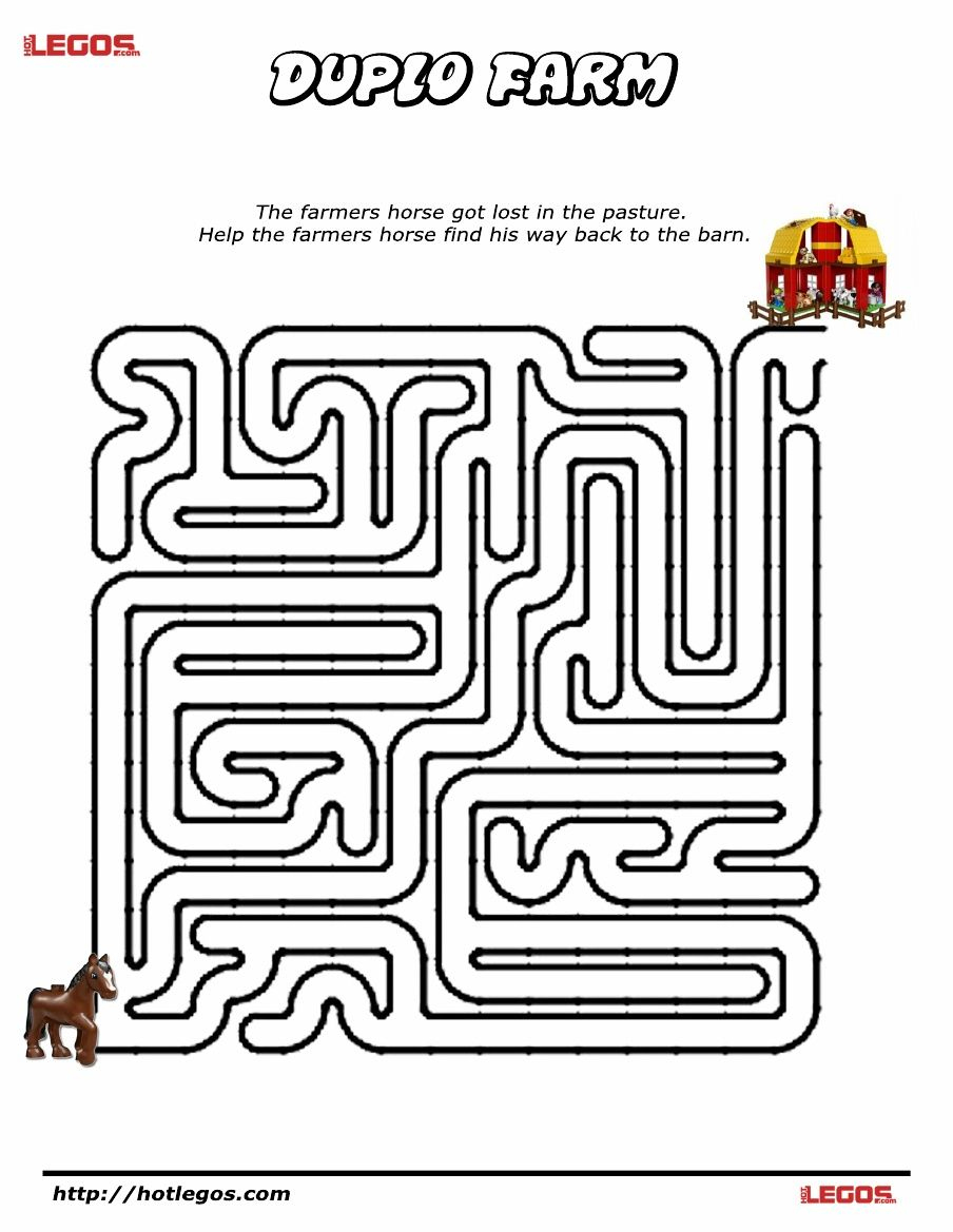 Duplo Farm Puzzle Maze. Free Printable | Lego Fun Stuff | Maze - Printable Puzzles And Mazes