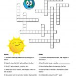 Earth's Seasons And The Sun: A Crossword Puzzle | Nasa   Printable Crosswords The Sun