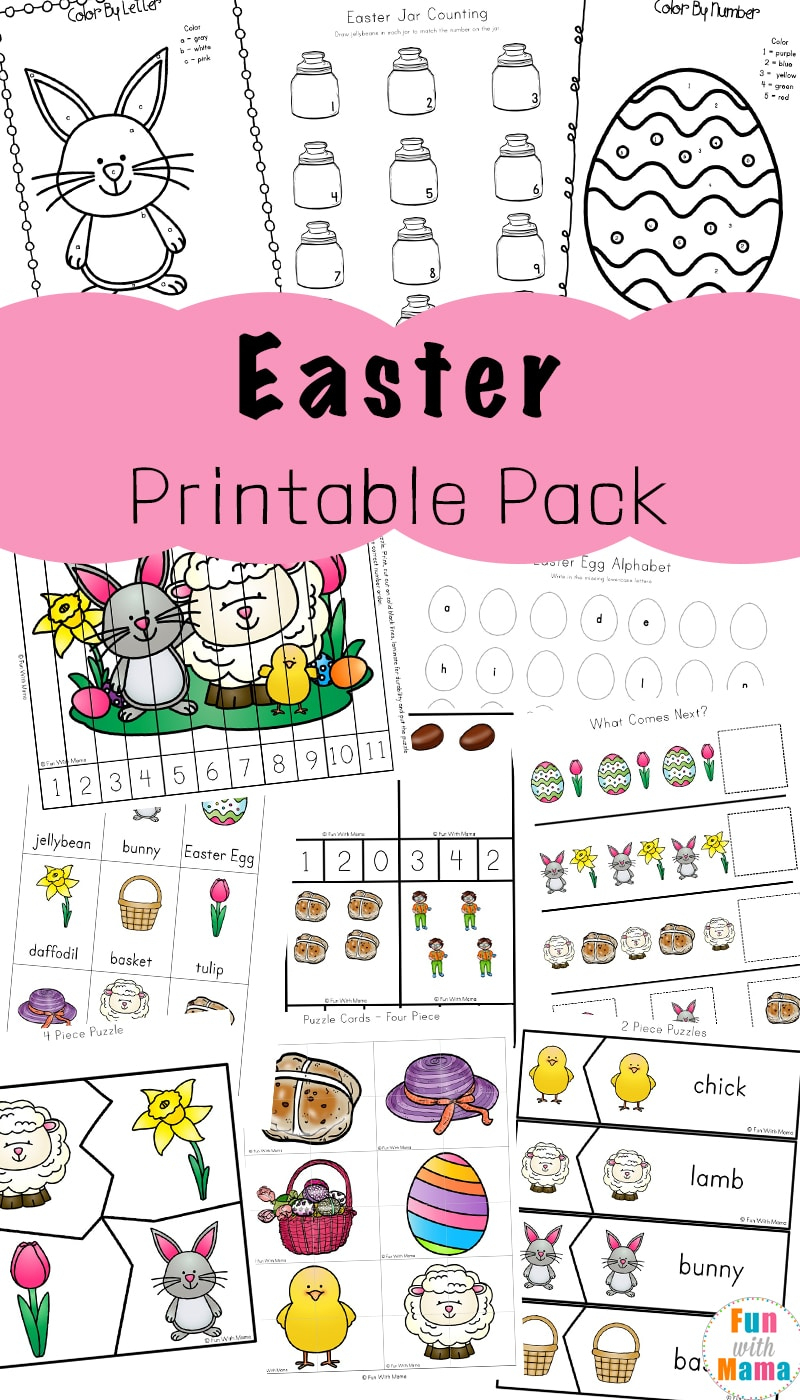 Easter Activities For Toddlers And Preschool Printables - Fun With Mama - Printable Puzzles Preschool