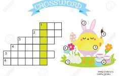 Easter Activity. Educational Children Game. Crossword With Answer – Printable Puzzle For Toddlers