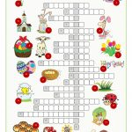 Easter Crossword Puzzle Worksheet   Free Esl Printable Worksheets   Printable Crossword Puzzles Easter