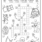 Easter Crossword | Teaching English | Easter Crossword, Easter   Easter Crossword Puzzle Printable Worksheets