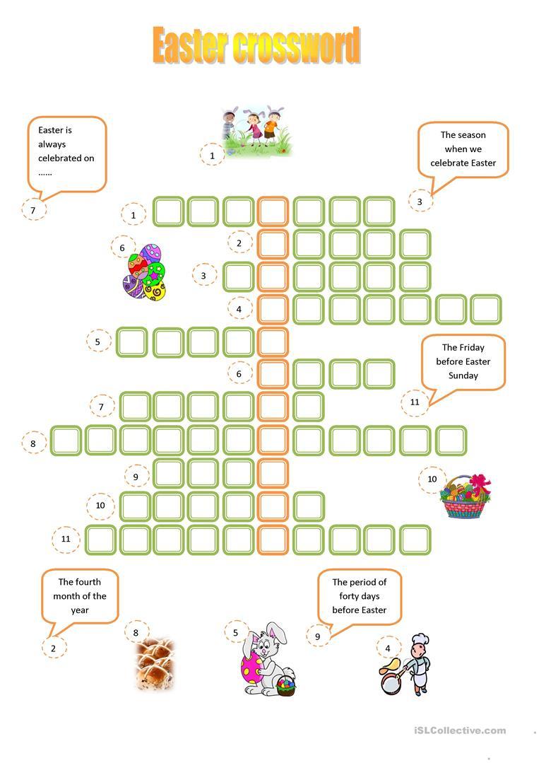 Easter Crossword Worksheet - Free Esl Printable Worksheets Made - Easter Crossword Puzzle Printable Worksheets