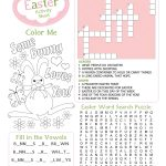 Easter Kid's Activity Sheet Free Printables Available @party   Easter Crossword Puzzle Printable Worksheets
