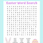 Easter Word Search Free Printable Worksheet For Kids   Printable Educational Puzzles