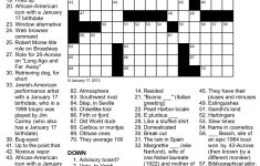 Easy Celebrity Crossword Puzzles Printable – Printable Celebrity Crossword Puzzles