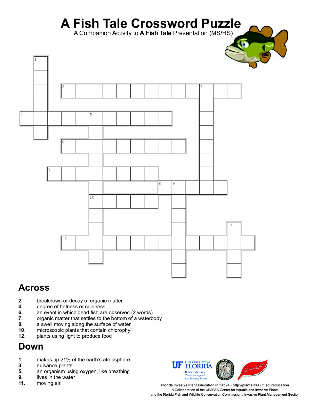 Easy Crossword Puzzles For Kids | Kiddo Shelter - Wildlife Crossword Puzzle Printable