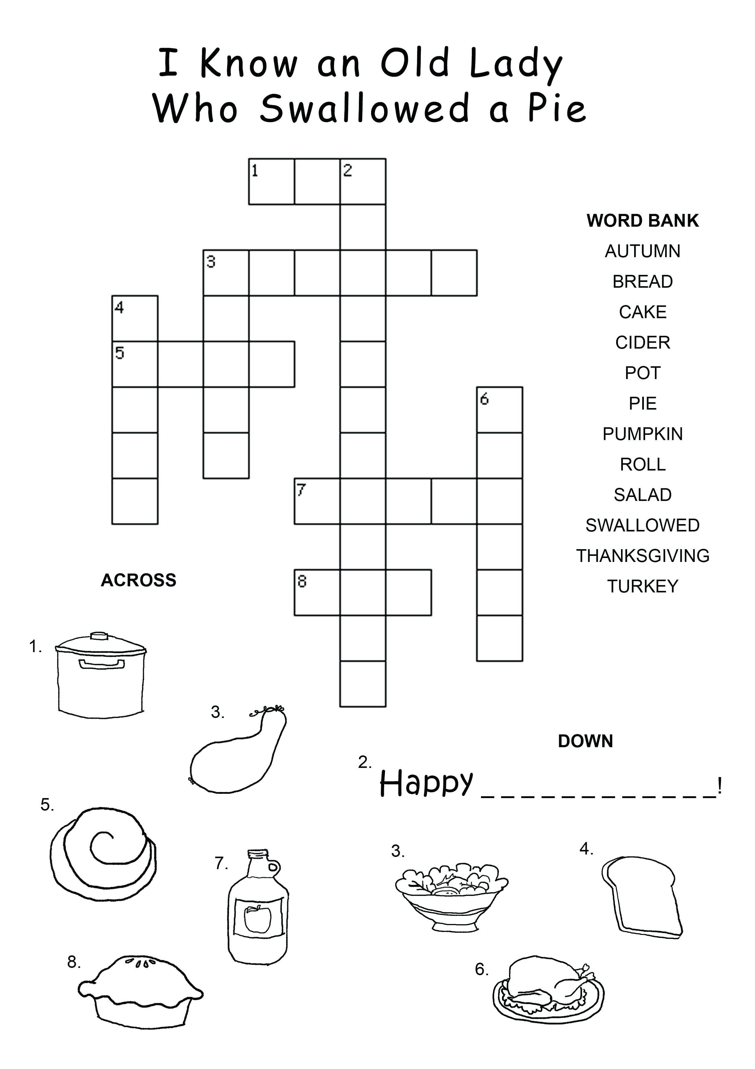 Easy Crossword Puzzles For Kids Kids Crossword Puzzles Easy - Printable Crossword Puzzles For Grade 7