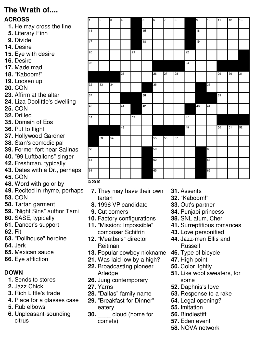 Easy Crossword Puzzles For Seniors | Activity Shelter - Printable Puzzles For Seniors