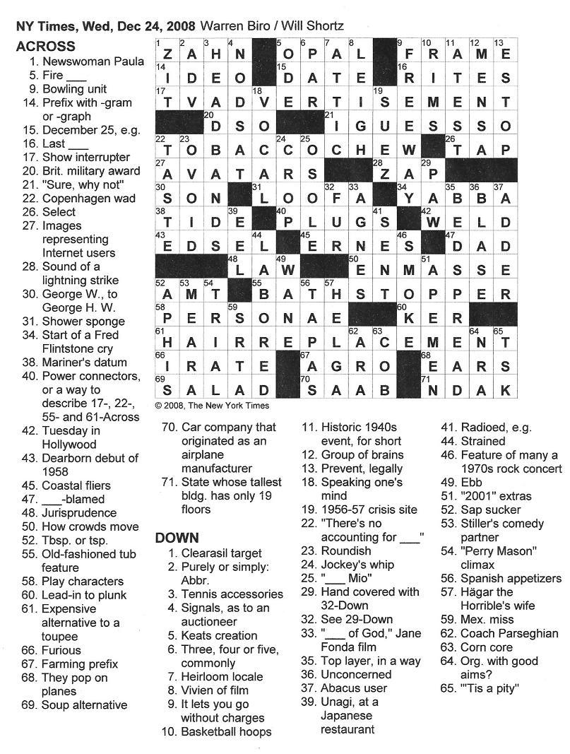 Easy Crossword Puzzles Online - Free Printable Crossword Puzzles Robotics