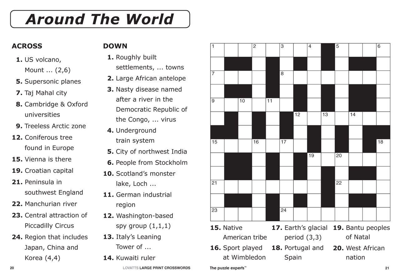 Easy Large Print Crossword Puzzles Printable Easy Crosswords To - Printable Crossword Nz