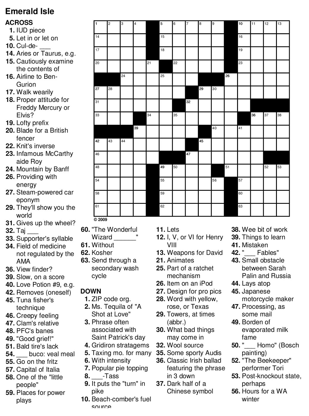 Easy Printable Crossword Harry Potter Puzzle Sc St Intended For - Easy Printable Crossword Puzzles For Adults