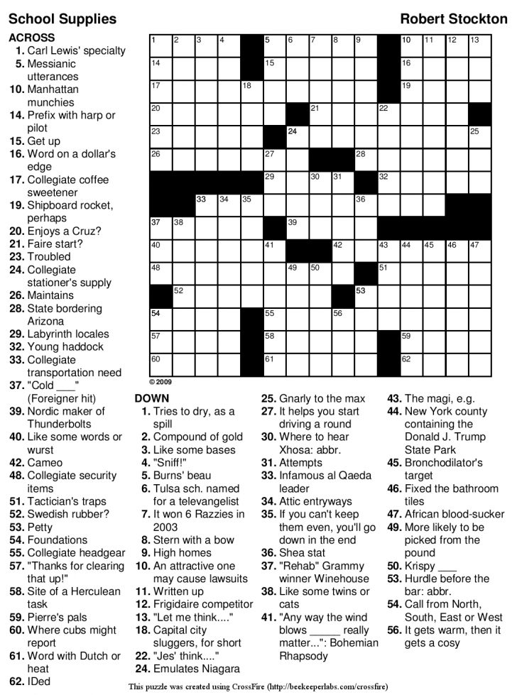 How To Make A Crossword Puzzle Free Printable