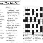 Easy Printable Crossword Puzzles | Elder Care & Dementia Care   15 X 15 Printable Crosswords