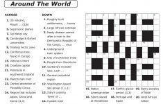 Easy Printable Crossword Puzzles | Elder Care & Dementia Care – Free – Printable Crossword Puzzles By Category