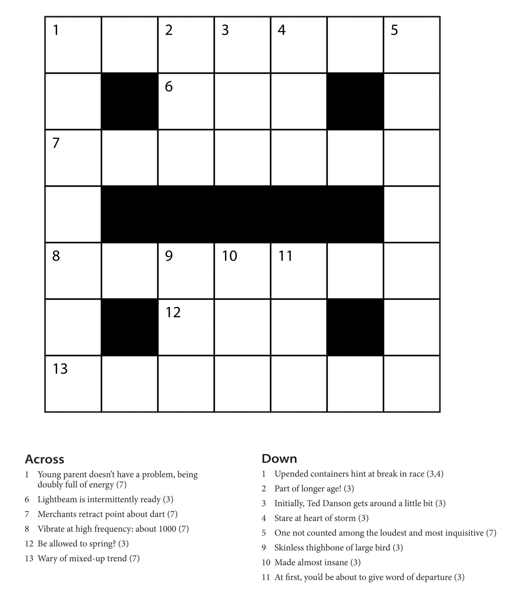 Easy Printable Crossword Puzzles | Freepsychiclovereadings - Printable Crossword Puzzles Grade 6