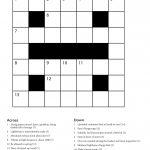 Easy Printable Crossword Puzzles | Freepsychiclovereadings   Printable Cryptic Crossword Puzzles Free