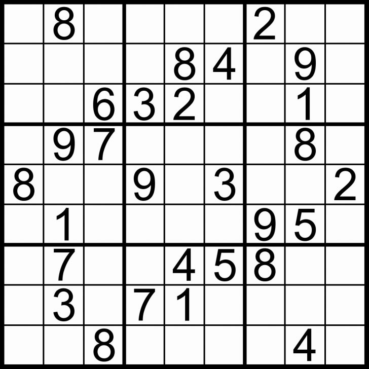 Printable Sudoku Puzzles Easy