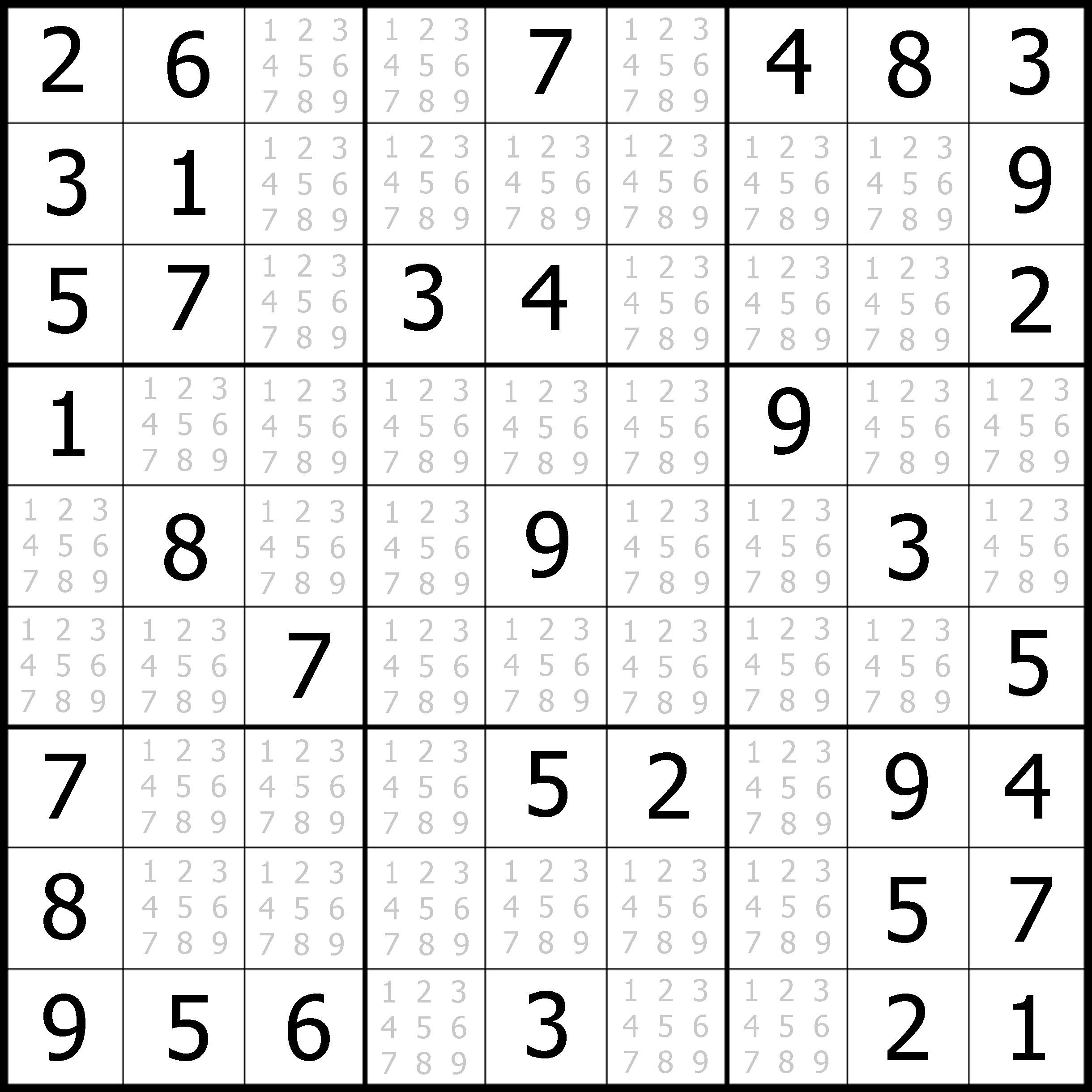 Easy Sudoku Printable | Kids Activities - Printable Puzzles Sudoku