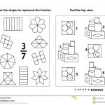 Educational Math Activity Page With Two Puzzles And Coloring   Printable Visual Puzzles
