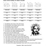 Einstein's Riddle: Detective Style Logic Activity   All Esl   Printable Zebra Puzzle