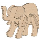 Elephant Mini Puzzle   Printable Elephant Puzzle