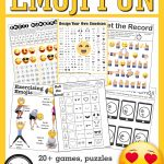 Emoji Games And Puzzles Packet Emoji Birthday Parties   Growing Play   Printable Puzzle Packet