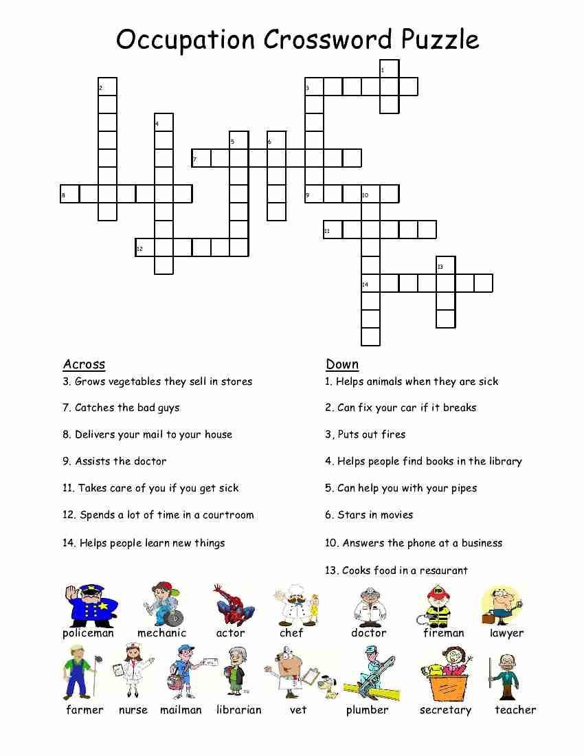 Empoweredthem: Occupation Crossword Puzzle | Pulley | Crossword - Printable Crossword Puzzles About Cars