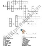 English Worksheets: New Year Crossword   New Year Crossword Puzzle Printable