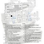 Enjoyable Esl Printable Crossword Puzzle Worksheets With Pictures   Printable Crossword Puzzle Money