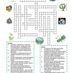 Environment   Crossword Puzzle Worksheet   Free Esl Printable   Free Printable Reading Crossword Puzzles