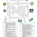 Environment   Crossword Puzzle Worksheet   Free Esl Printable   Printable English Crossword Puzzles With Answers Pdf