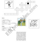 Environment: Crossword+Puzzle   Esl Worksheetyessine   Recycling Crossword Puzzle Printable
