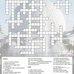 Epcot Crossword Puzzle | Just Because You Have A Fast Passdoesn't   Crossword Puzzle Printable Disney