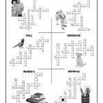 Esl Worksheet Crossword Puzzle Answers | Woo! Jr. Kids Activities   Printable Crossword Puzzles Spanish