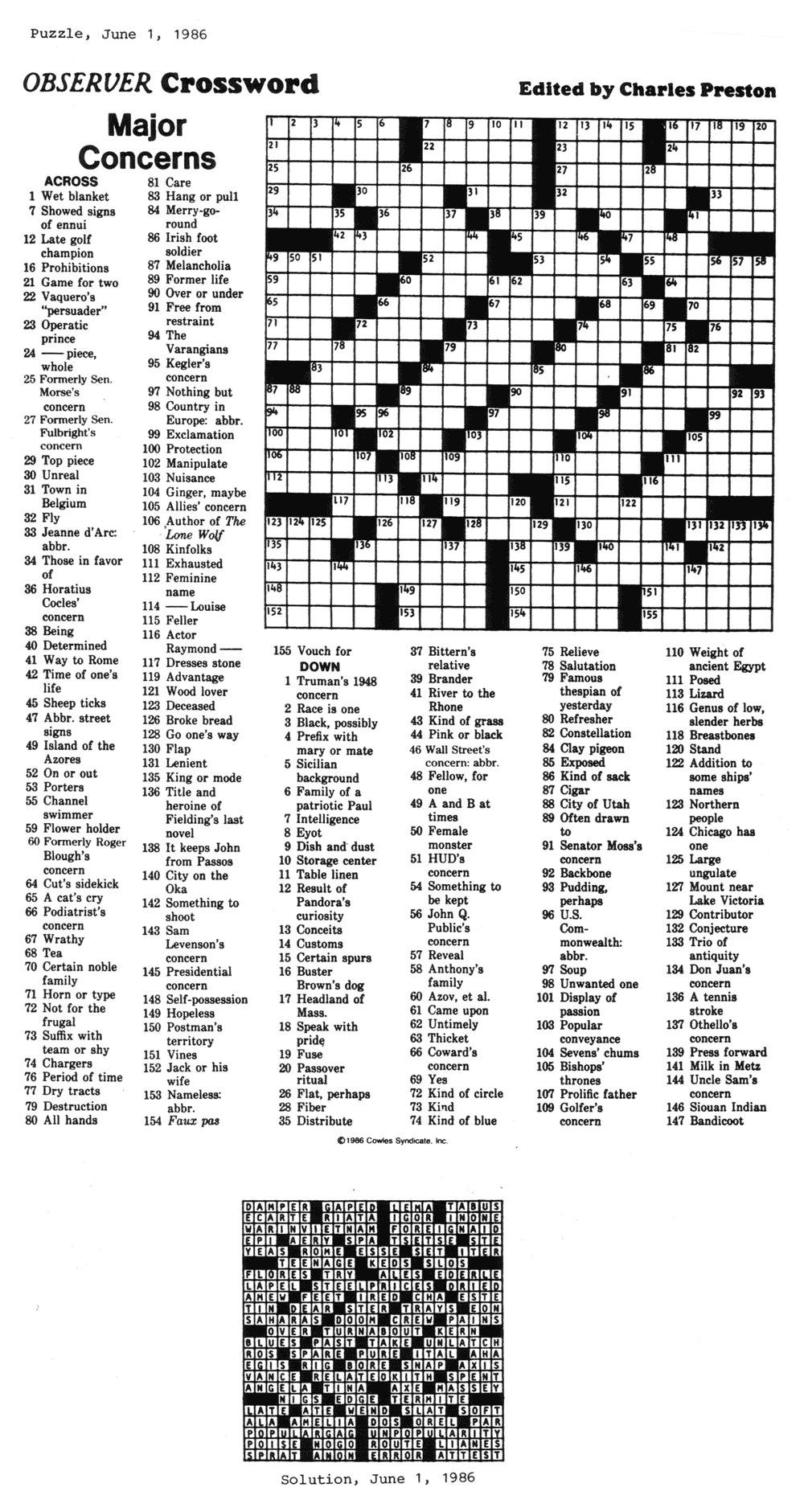 Eugene Sheffer Crossword Puzzle Printable - Printable 360 Degree - Printable Crossword Puzzles Eugene Sheffer
