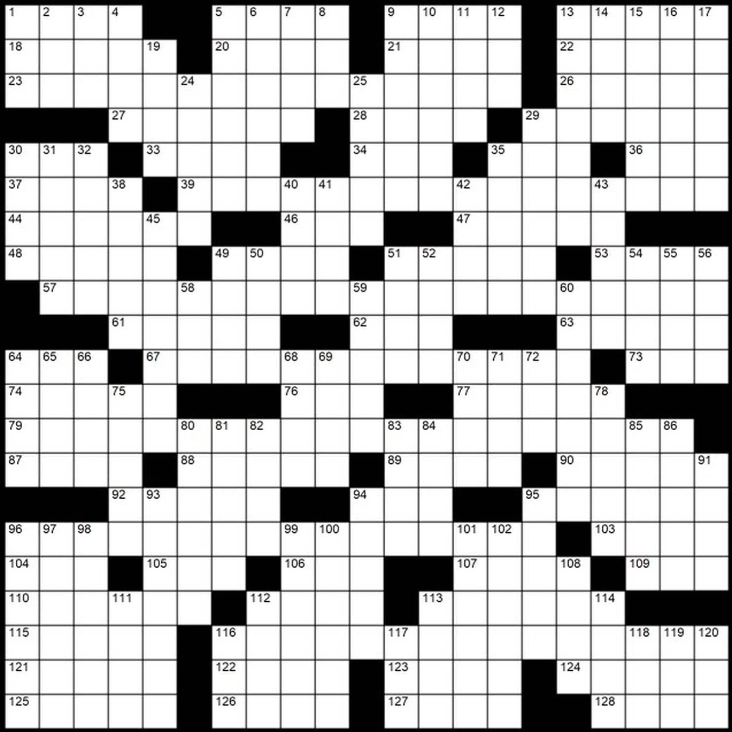 "Evan Birnholz's April 28 Post Magazine Crossword, ""Chain Links - Printable Wsj Crossword"