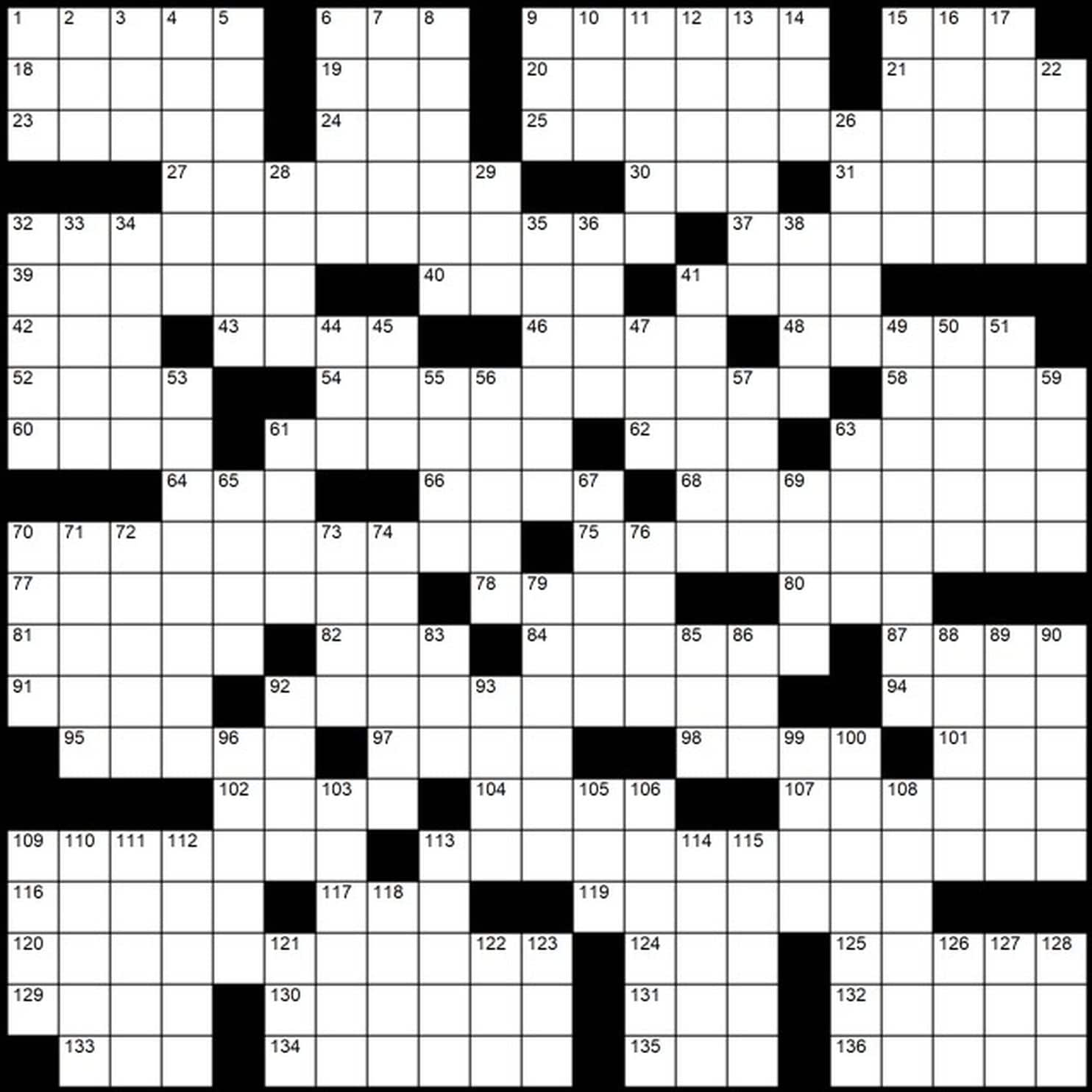 Printable Sunday Crossword Washington Post