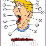 Face Parts Esl Printable Crossword Puzzle Worksheets For Kids | Esl   Printable Face Puzzle