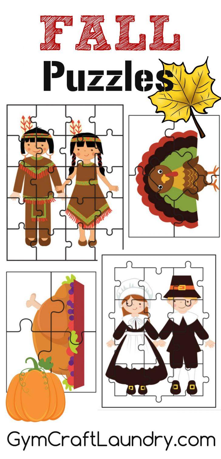 Printable Puzzles For Preschoolers