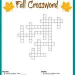 Fall Crossword Puzzle Free Printable Worksheet   Printable Puzzle Free