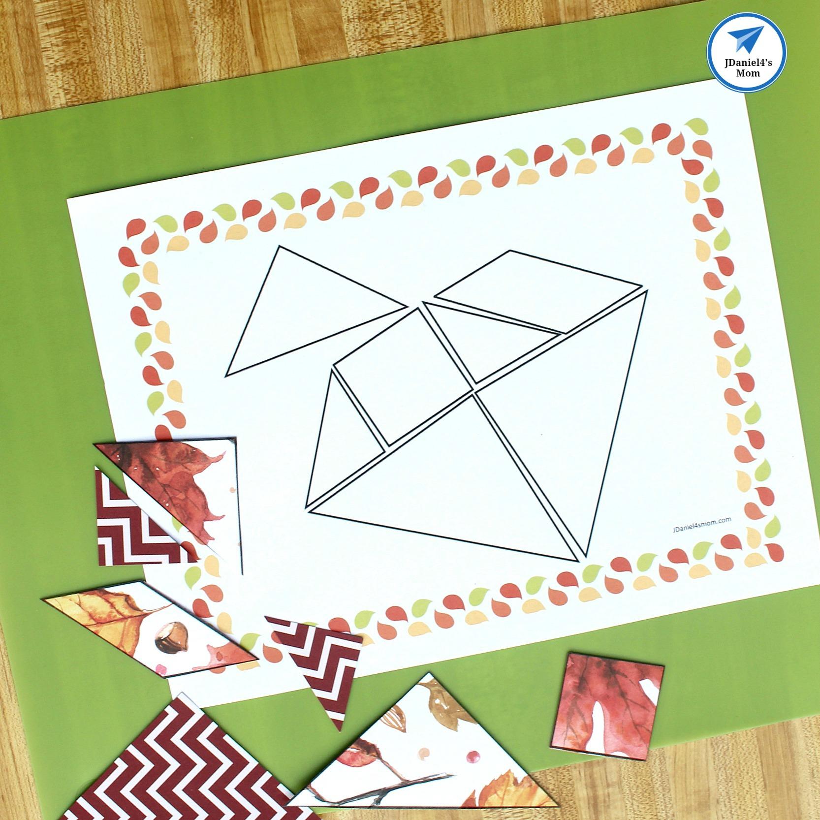 Fall-Themed Printable Tangram Puzzles - Jdaniel4S Mom - Printable Tangram Puzzles
