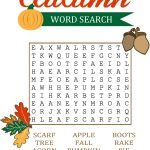 Fall Word Search For Brain Training | Educative Puzzle For Kids   Printable Drop Quote Puzzles