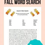 Fall Word Search | Freebies For Special Education | Fall Word Search   Printable Ela Puzzles