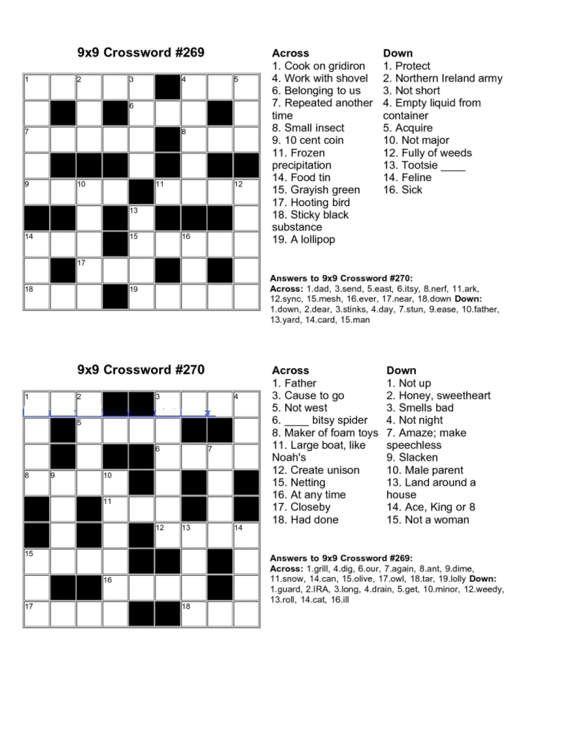 February Crossword Puzzle Answer Key Printables For Kids Free Easy - February Crossword Puzzle Printable