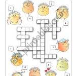 Feelings Crossword   Esl Worksheetalenka   Printable Feelings Puzzle