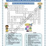 Feelings   Crossword   Esl Worksheetmacomabi   Printable Feelings Puzzle