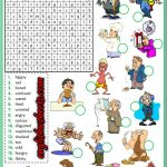 Feelings Emotions Esl Printable Word Search Puzzle Worksheets For   Printable Feelings Puzzle