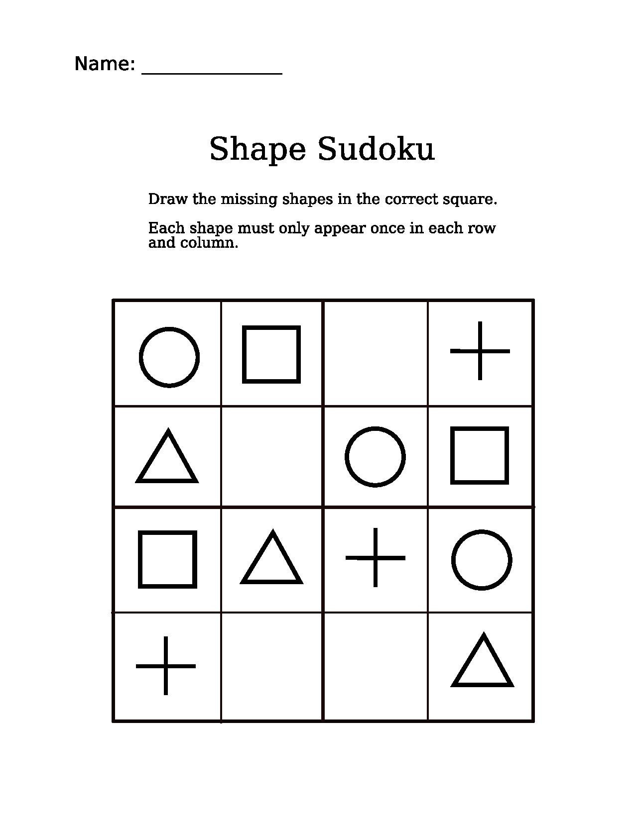 File:4X4 Shapes Sudoku Puzzle.pdf - Wikimedia Commons - Printable Sudoku Puzzles 4X4