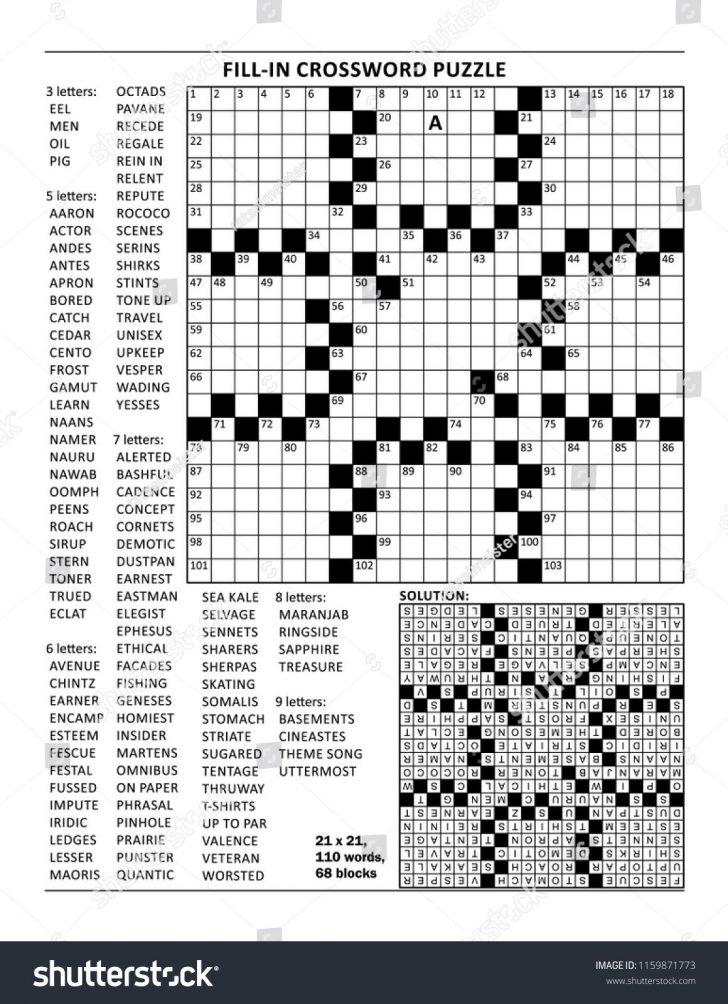 Printable Crossword Puzzle Grid